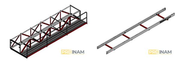 estructura de soporte o bastidor de sistema de transporte